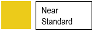 Near standard icon. Icon indicating student achieved near standard.